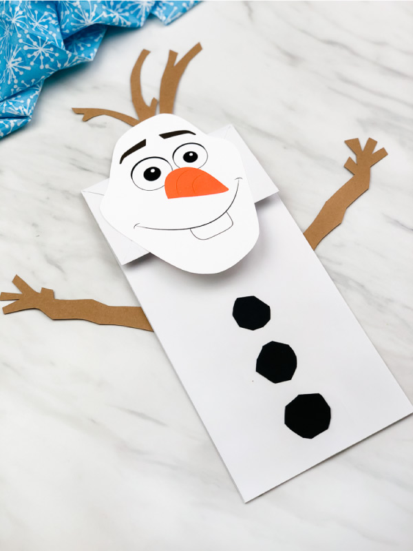 Paper Bag Olaf Craft For Kids