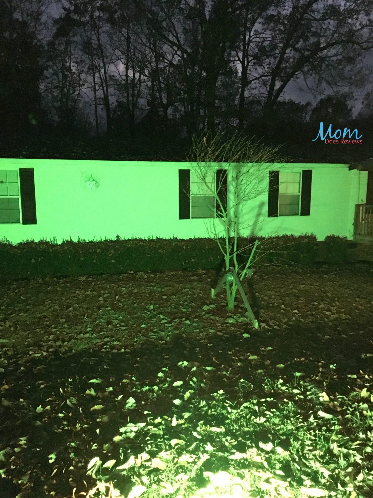 flood lights on house