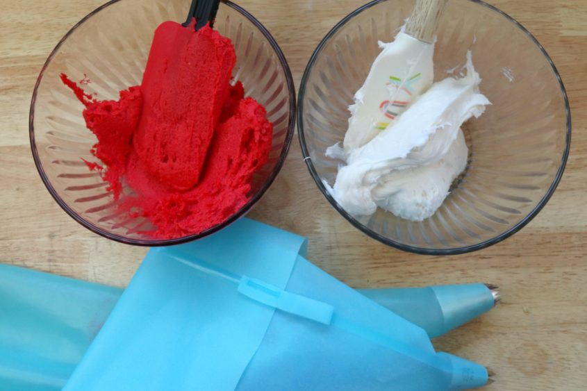 Santa Hat Cupcakes
