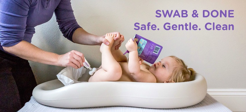 Diaper Caddy Essentials Start with the Swabbies Cream Gift Set