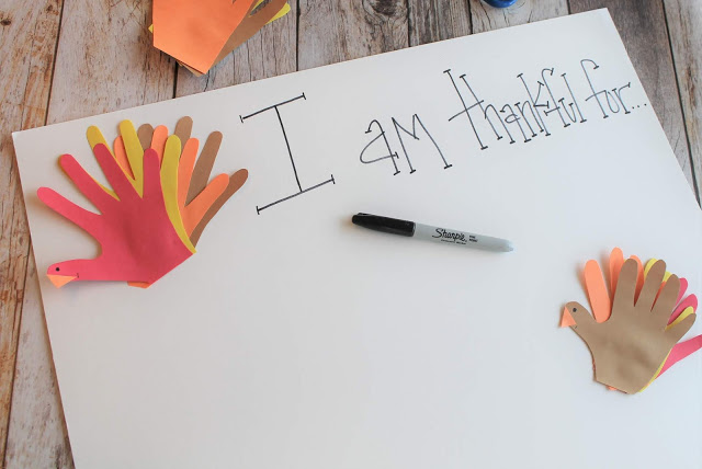 Turkey Handprint Craft and Thankful Chart