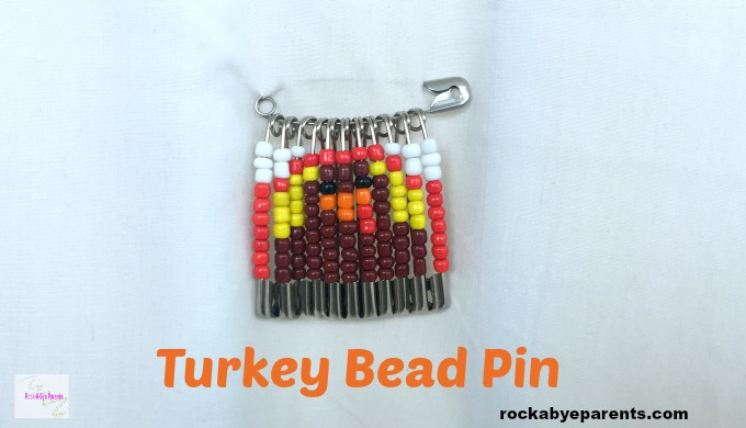 Turkey Bead Pin - An Easy Thanksgiving Kid Craft
