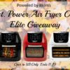 #Win a 6qt. Power Air Fryer Oven Elite, US Only, Ends 11/19