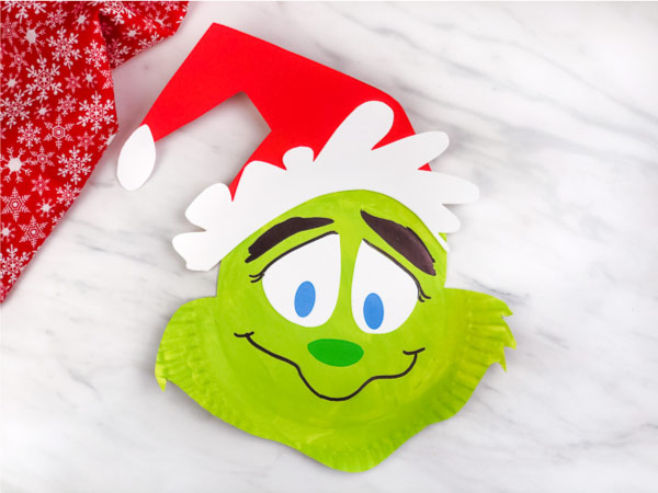 Paper Plate Grinch Craft For Kids