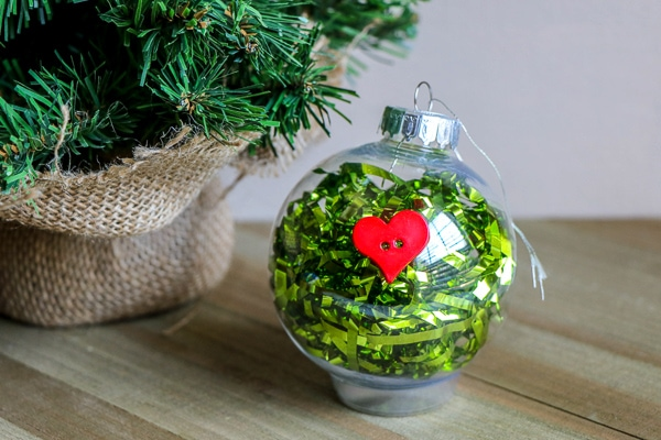Easy Grinch Ornament