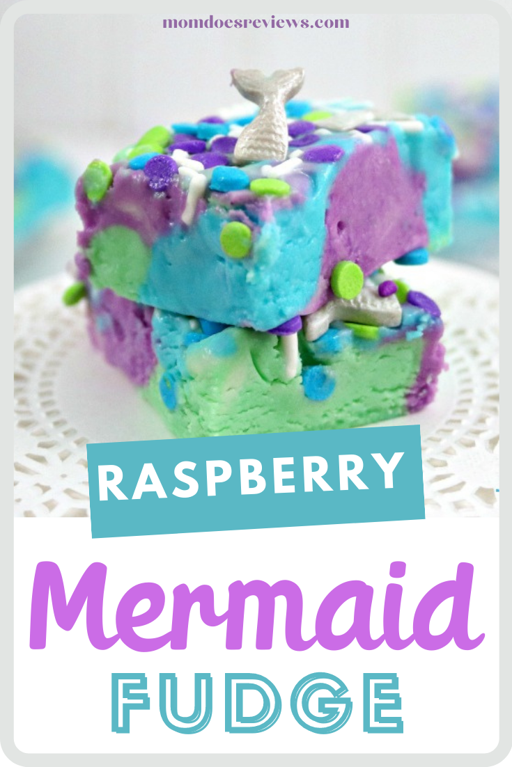 Raspberry-Layered Mermaid Fudge #funfood