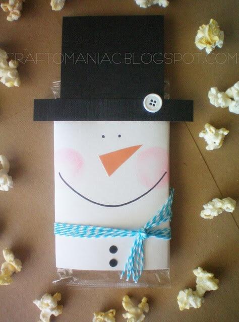 Popcorn Snowman Gift