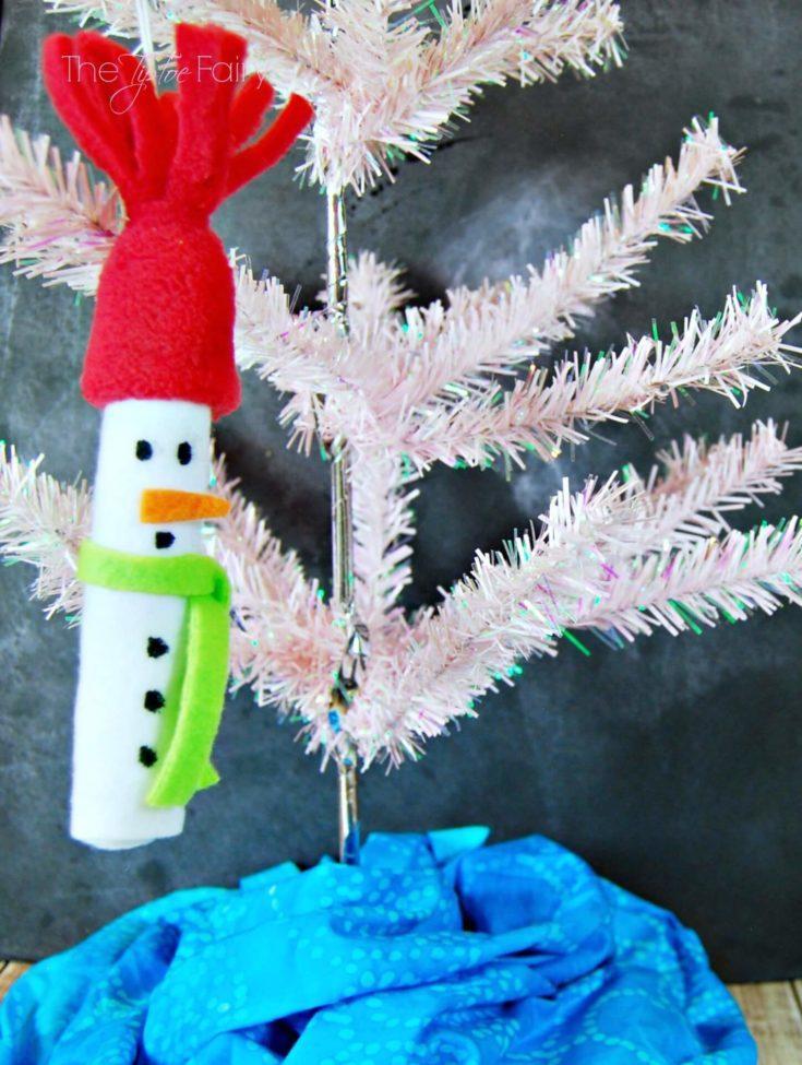 NO SEW Easy Felt Snowman Ornament