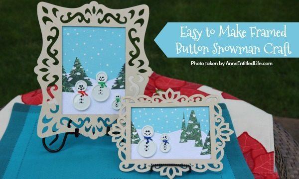 Framed Button Snowman Craft