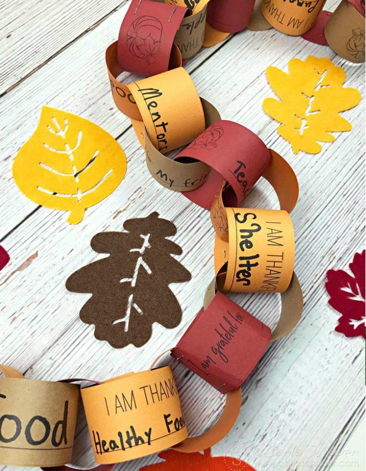 Printable Thanksgiving Gratitude Chain