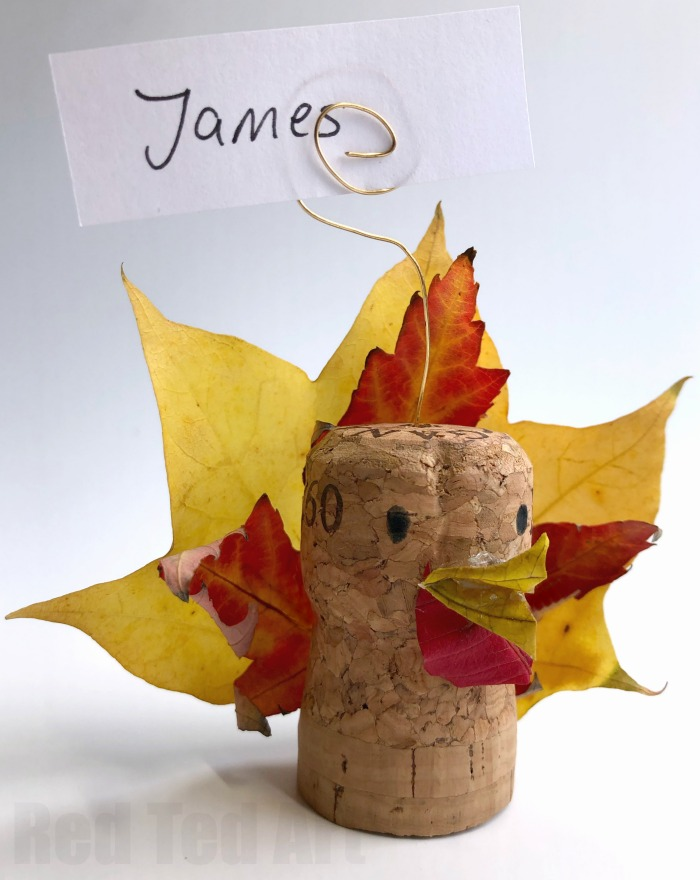 Leaf Turkey Craft - Thanksgiving Place Cards