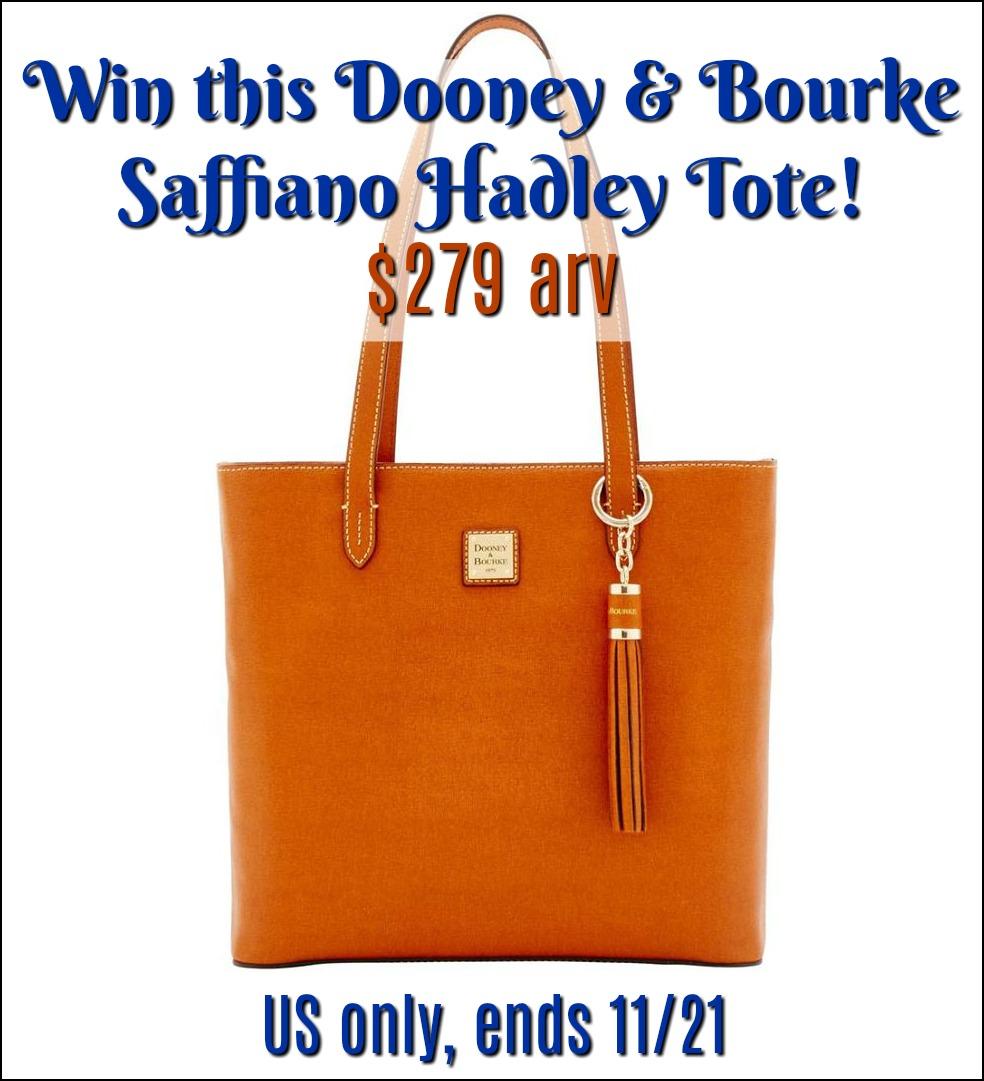 #Win Dooney & Bourke Saffiano Hadley Tote