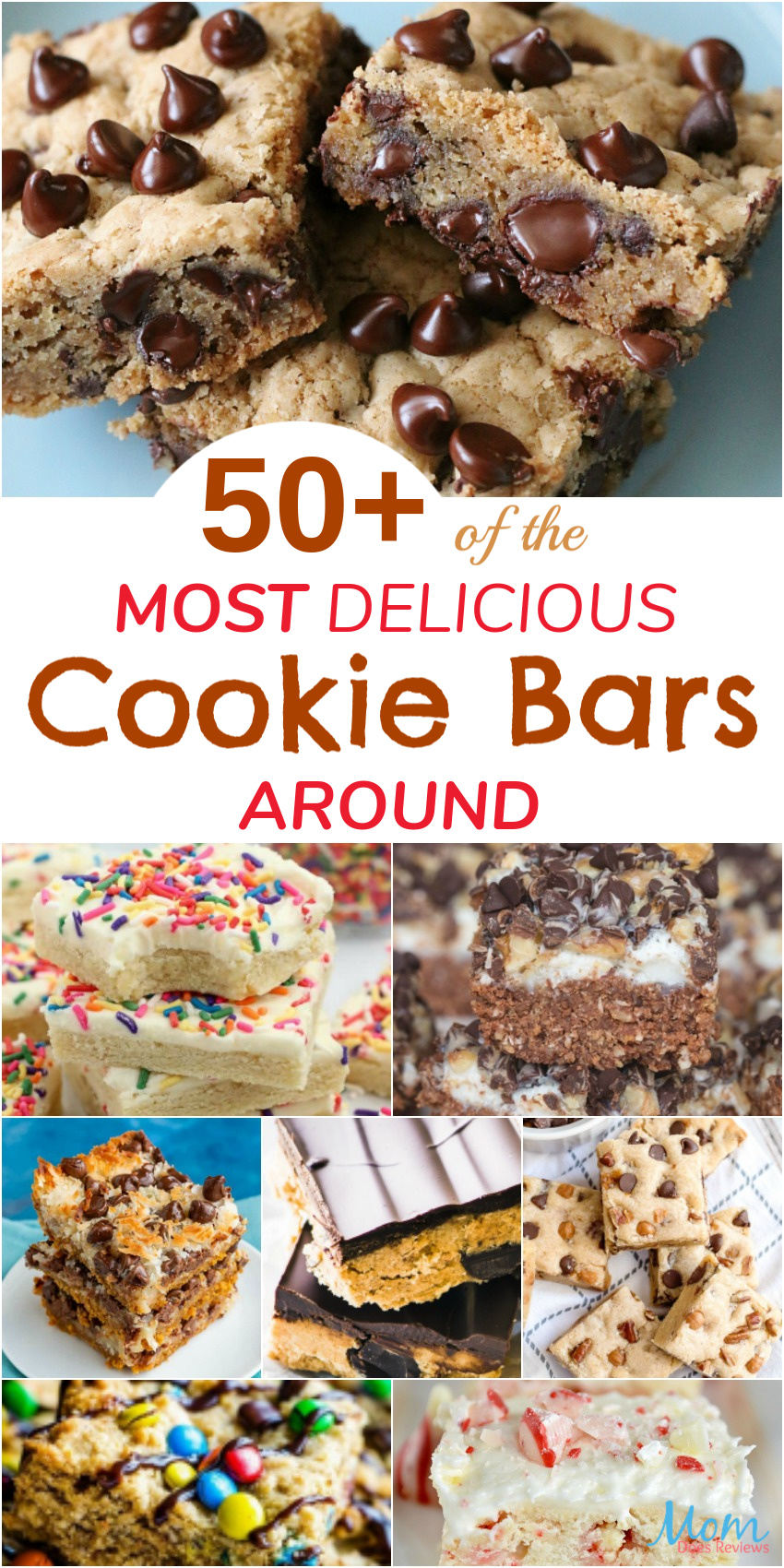 50+ of the Most Delicious Cookie Bars Around #recipes #desserts #foodie