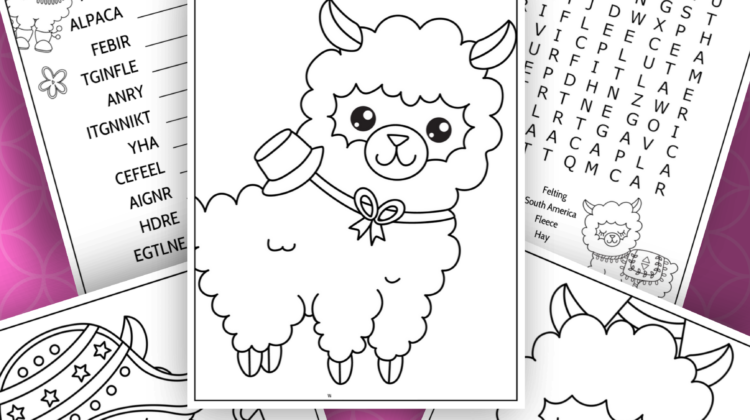 Alpaca Activity Sheets #freeprintables #activitysheets