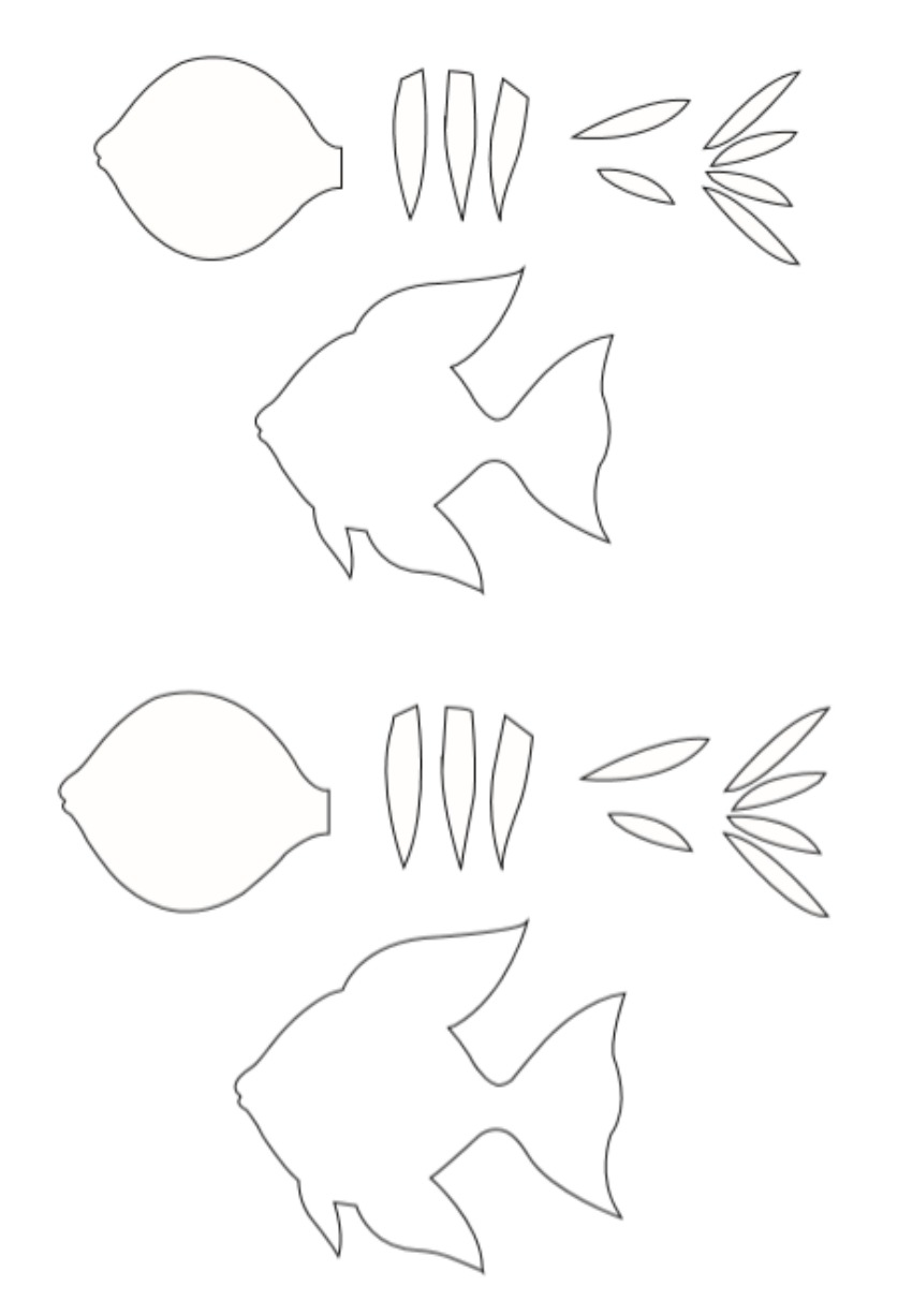 Angelfish Paper Craft template