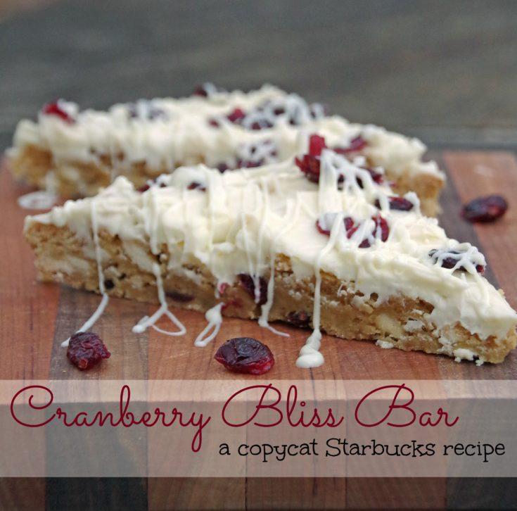Cranberry Bliss Cookie Bar