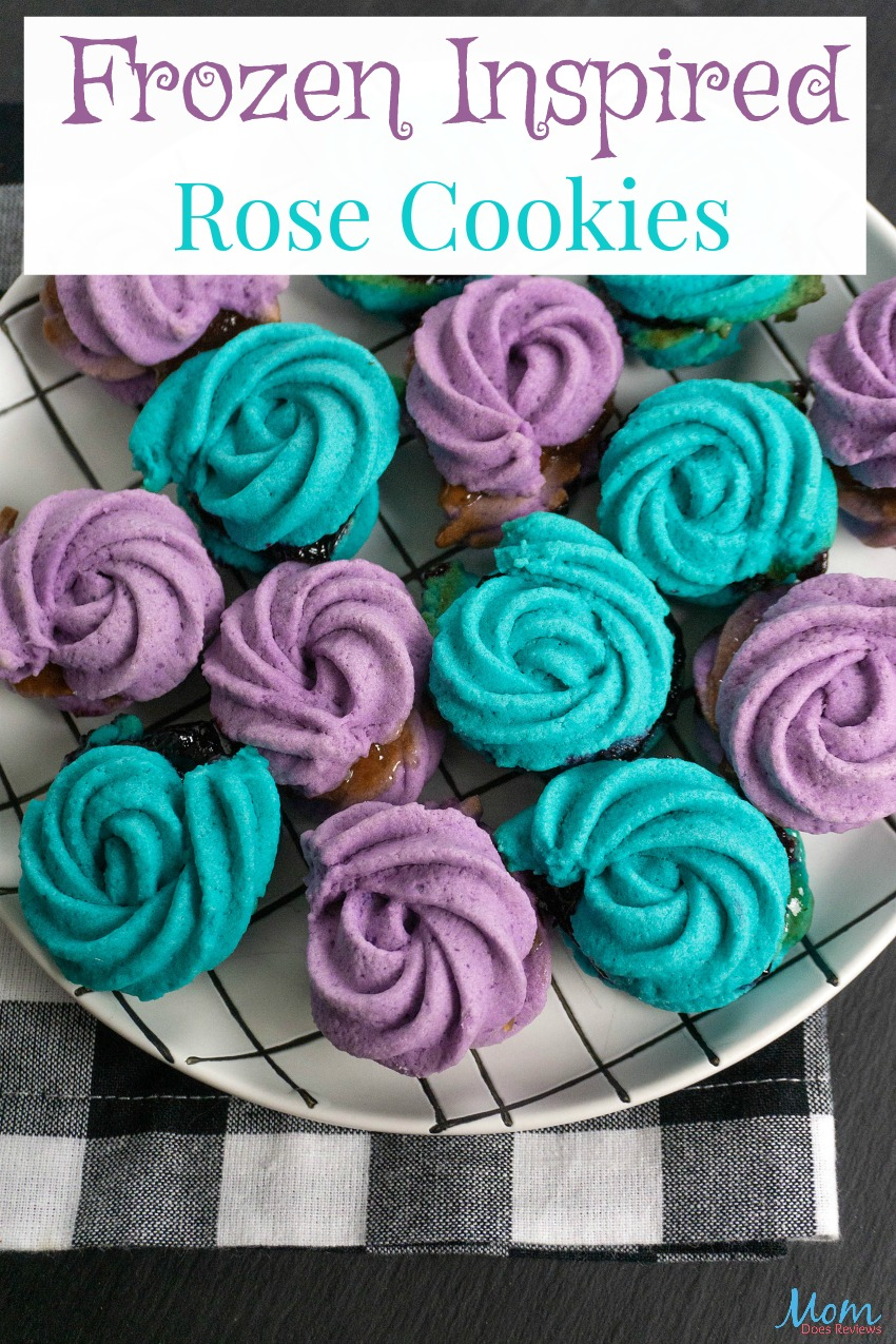 Frozen Inspired Rose Cookies#Recipe and Tutorial #Frozen #sweets