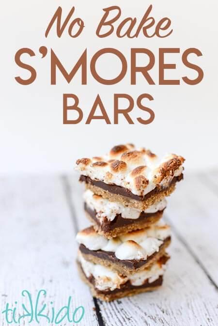 No Bake S'Mores Bars Recipe