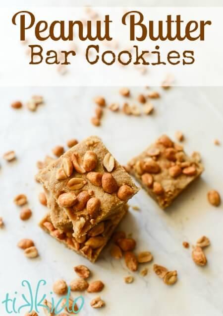 Peanut Butter Bar Cookies