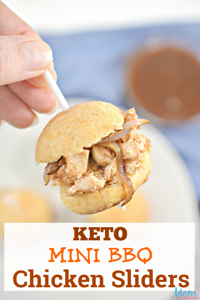 Keto Mini BBQ Chicken Sliders  #Recipe #KETO #appetizers