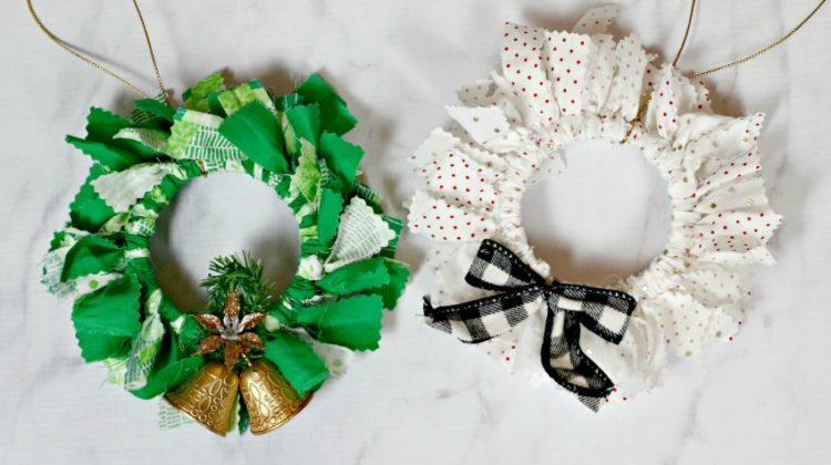 Mason Jar Ring Fabric Tie Ornaments Craft