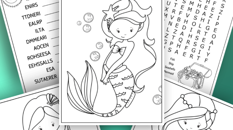 Magical Mermaid Activity Sheets