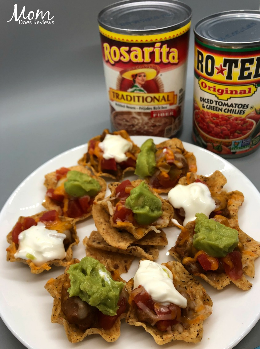 Mexican Miracle Bites with RO*TEL and Rosarita- an Easy Appetizer- Perfect for Game Time