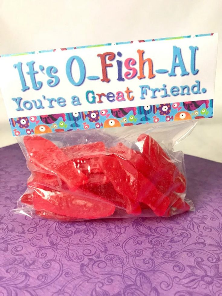 Swedish Fish Printable Valentine Toppers