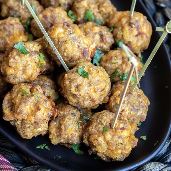 Stuffing Sausage Balls