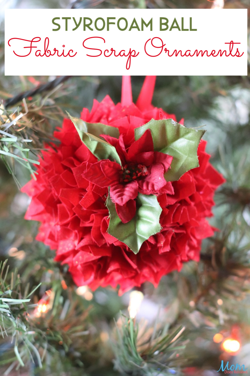 Styrofoam Ball Fabric Scrap Ornaments Craft
