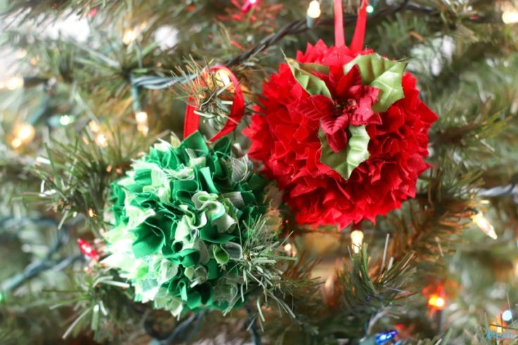 Styrofoam Ball Fabric Scrap Ornaments Craft