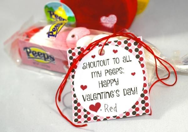 "Valentine Printable- Shoutout to my ""PEEPS!"""