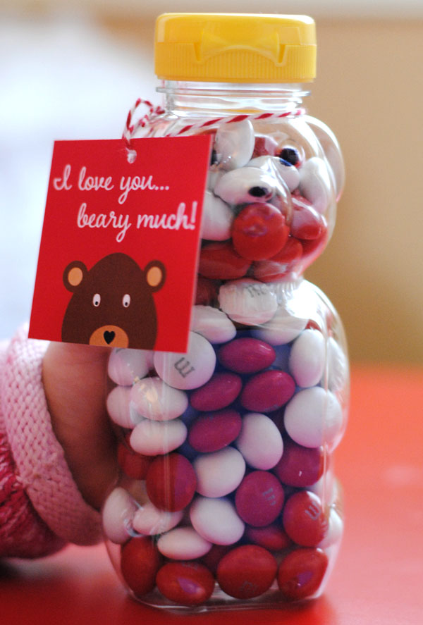 Free Printable I Love You Beary Much Valentine's Day Tags
