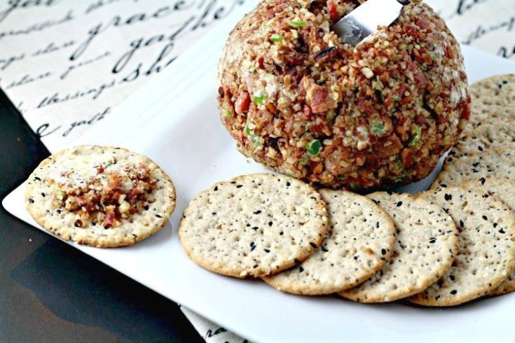 Cheese Ball Recipe with Bacon & Peppers