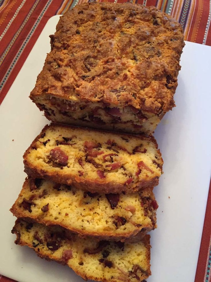 Keto Cheese Bread With Bacon