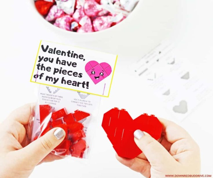 Lego Heart Valentine With Free Printables