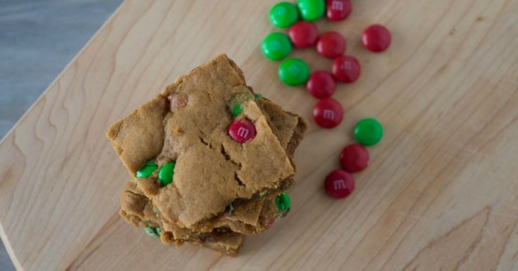 Holiday Gingerbread Cookie Bars