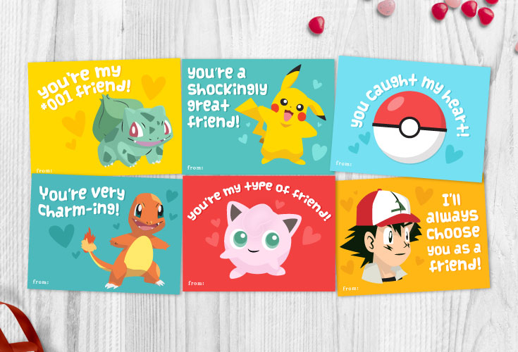 Free Printable Pokemon Valentines Cards