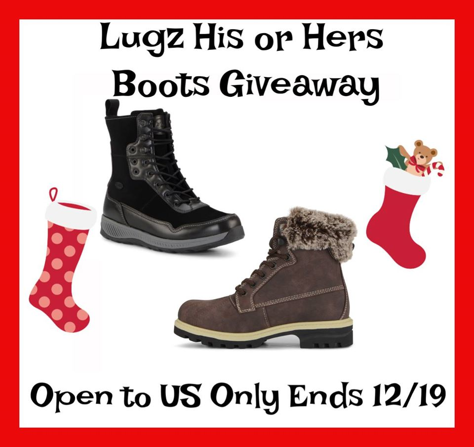 #Win Lugz His or Hers Boots! US, ends 12/19