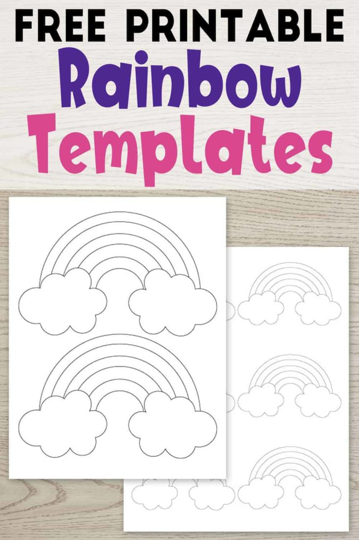 11 Free Printable Rainbow Templates