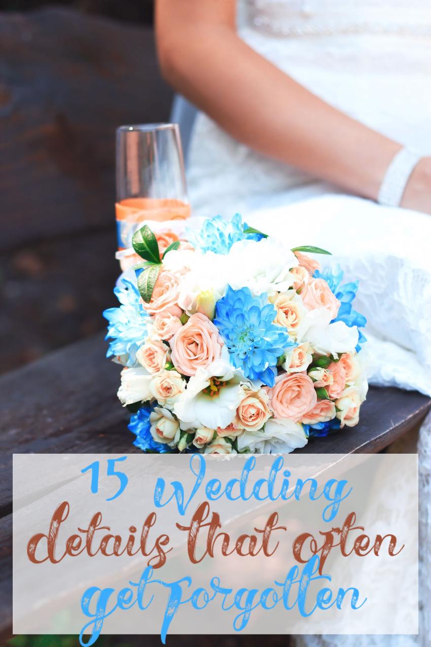 15 Small Wedding Details That Often Get Forgotten