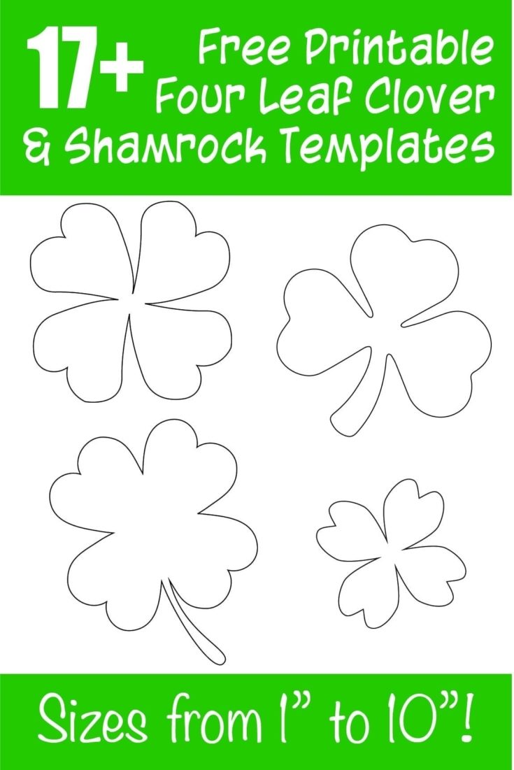 15+ Free Printable Four Leaf Clover & Shamrock Templates