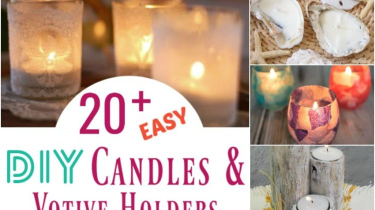 20+ Easy DIY Candles & Votive Holders You Just Have to Make