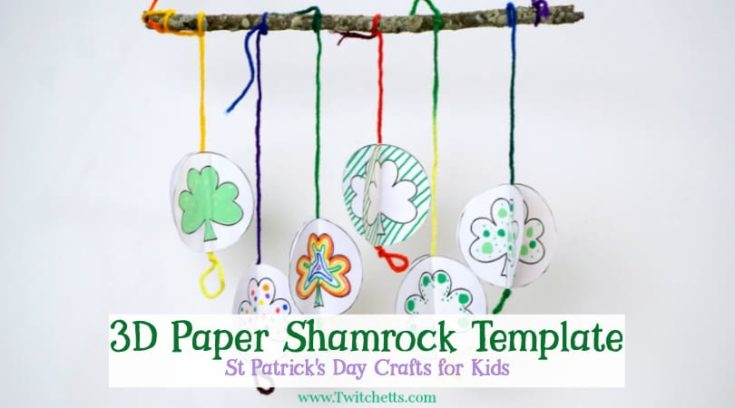 3D Paper Shamrock Mobile with our Shamrock Template