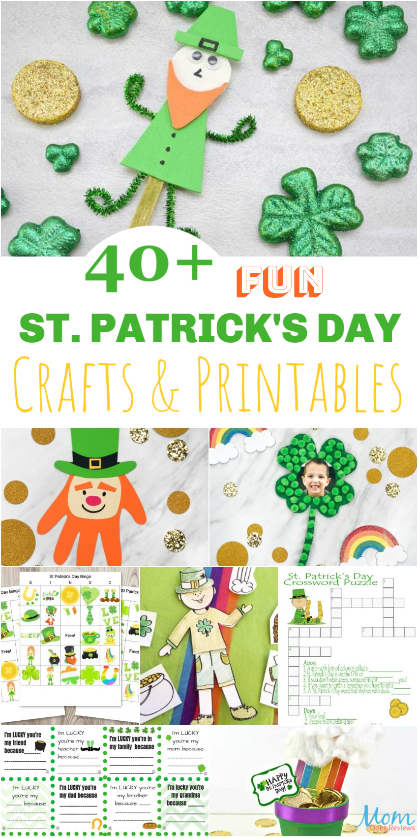 40+ FUN St. Patrick's Day Crafts & Printables for Kids #crafts #printables #funstuff