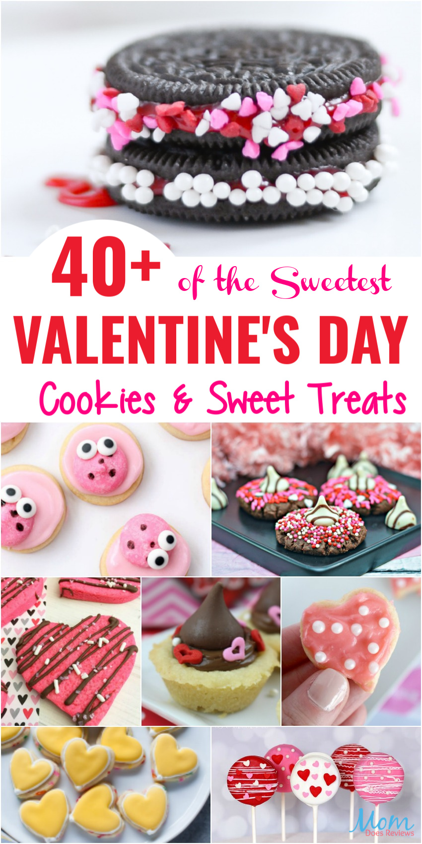 40+ of the Sweetest Valentine's Day Cookies & Treats #valentinesday #sweets #cookies