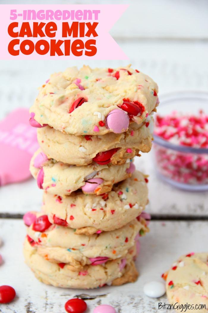 5-Ingredient Funfetti Cake Mix Cookies