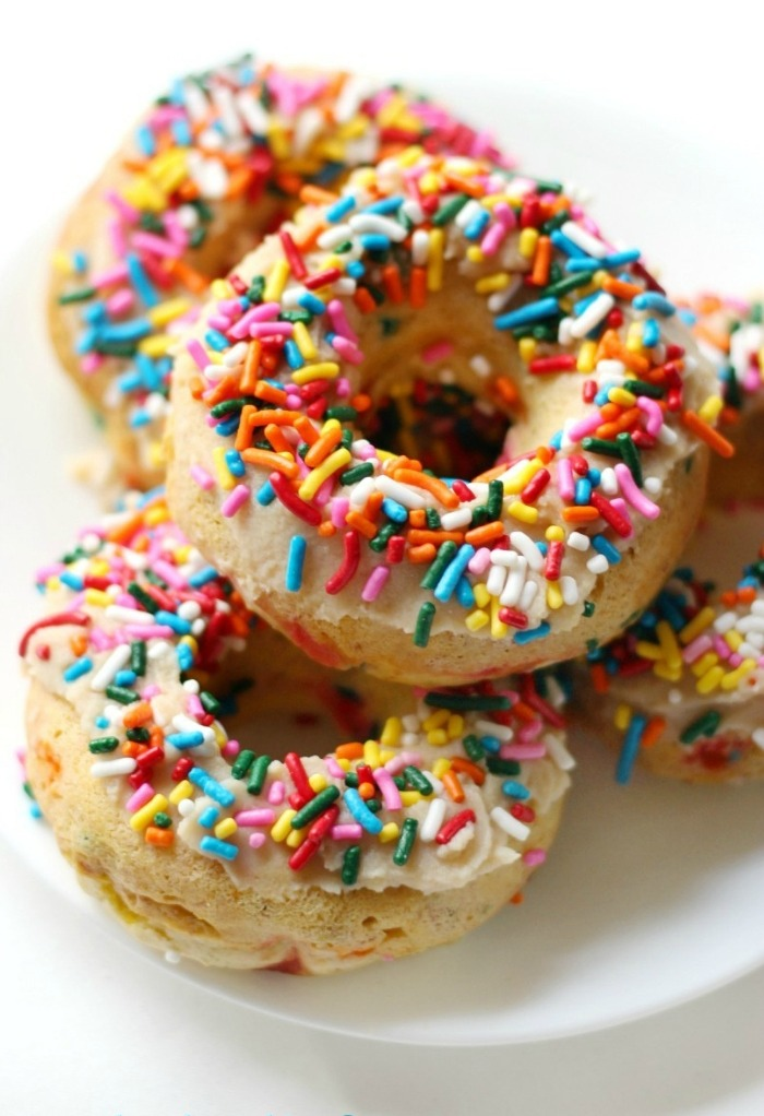 Baked Gluten-Free Vegan Funfetti Doughnuts (Paleo, Allergy-Free)