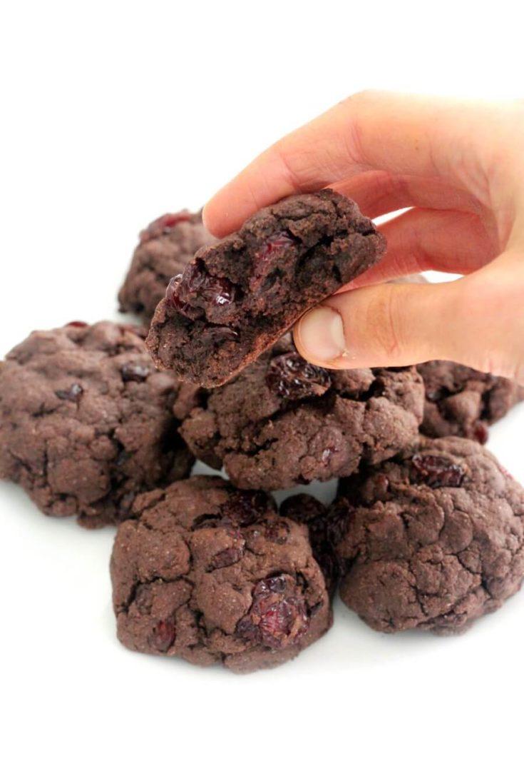 Gluten-Free Double Chocolate Cherry Cookies (Vegan, Allergy-Free)