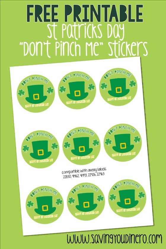 Free Printable St Patricks Day Stickers